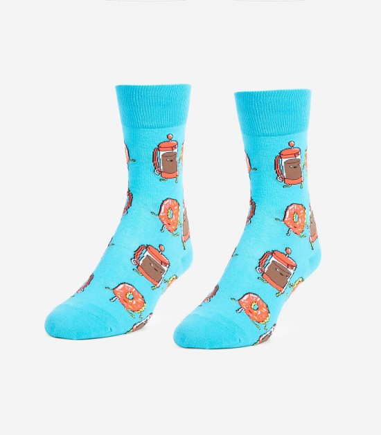 Coffee and Donut Unisex Small Socks