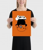 Catwork Orange Poster