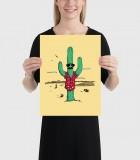 Undercover Cactus Poster