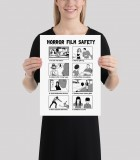 Horror Film Safety Guide Poster