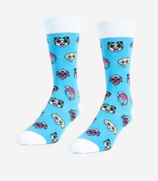 Dogs With Sunglasses Unisex Large Socks