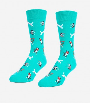 Frisbee Dogs Unisex Large Socks