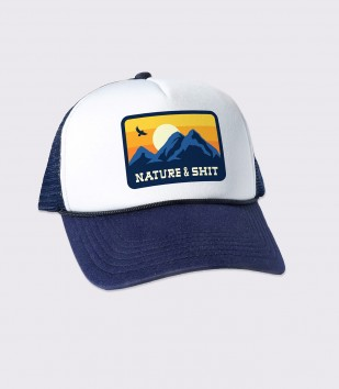 Nature & Sh-t Trucker Cap
