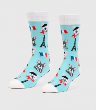 French Bulldogs Unisex L/XL Socks