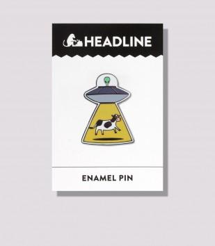Alien & Cow Enamel Pin
