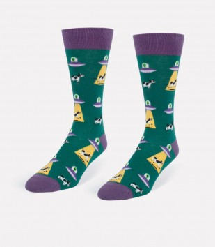 Alien vs. Cow Men's Socks