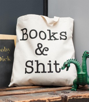 Books & Sh-t Tote Bag