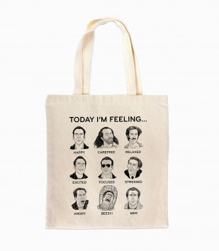 Nicolas Cage Mood Board Tote Bag