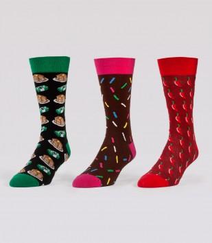 Gourmet Socks 3-Pack (3 Pairs)