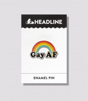 Gay AF Enamel Pin