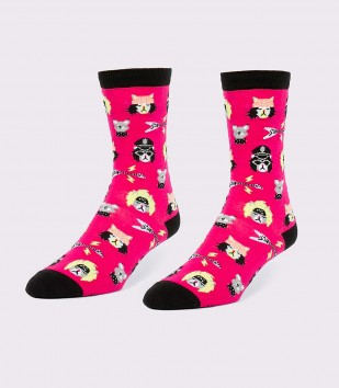 Hair Metal Cats Women's Socks