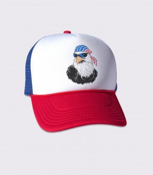 Patriotic Eagle Trucker Cap