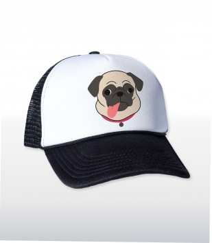 Pug Tongue Trucker Cap