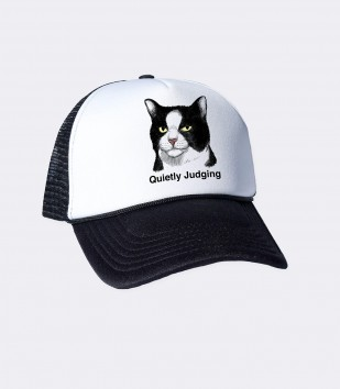 Quietly Judging Cat Trucker Cap
