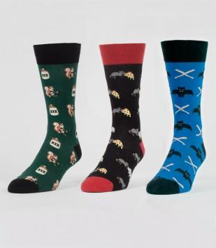 The Rat Pack Socks 3-Pack