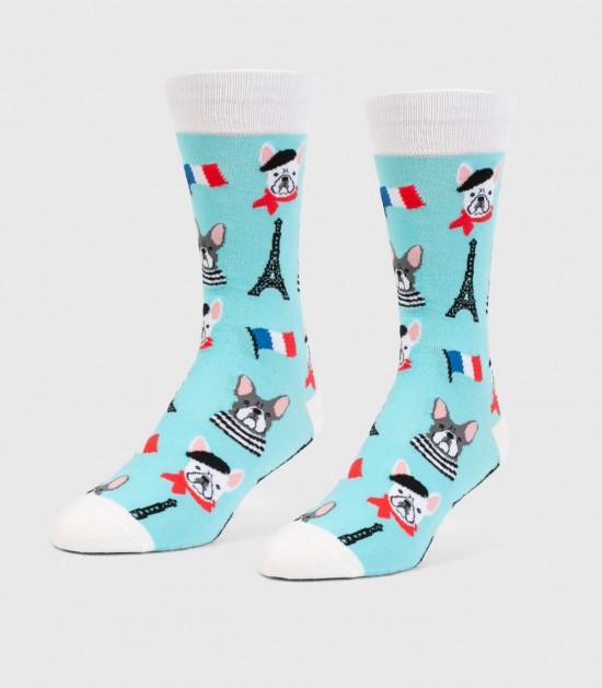 French Bulldogs Unisex L/XL Socks