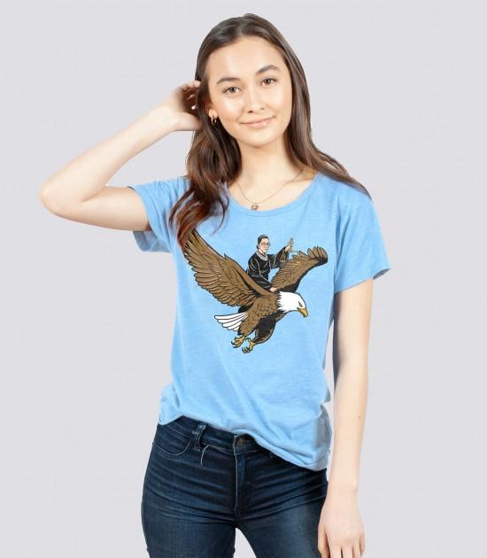 RBG Riding an Eagle