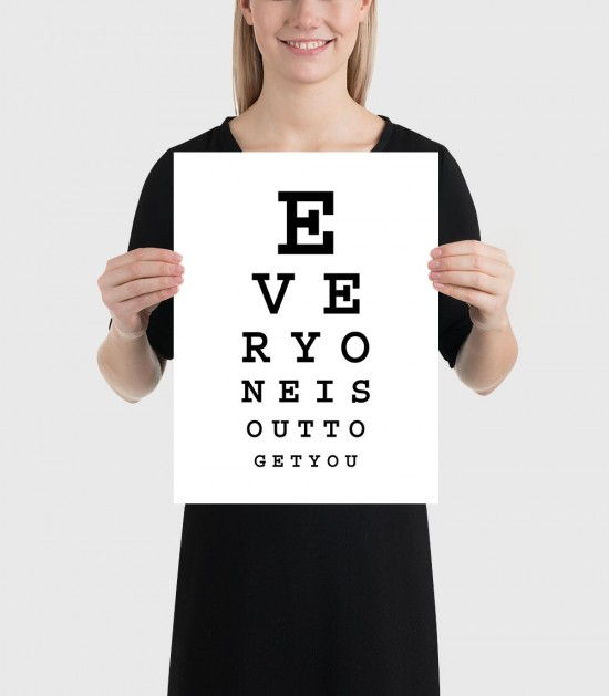 Subliminal Eye Chart Poster