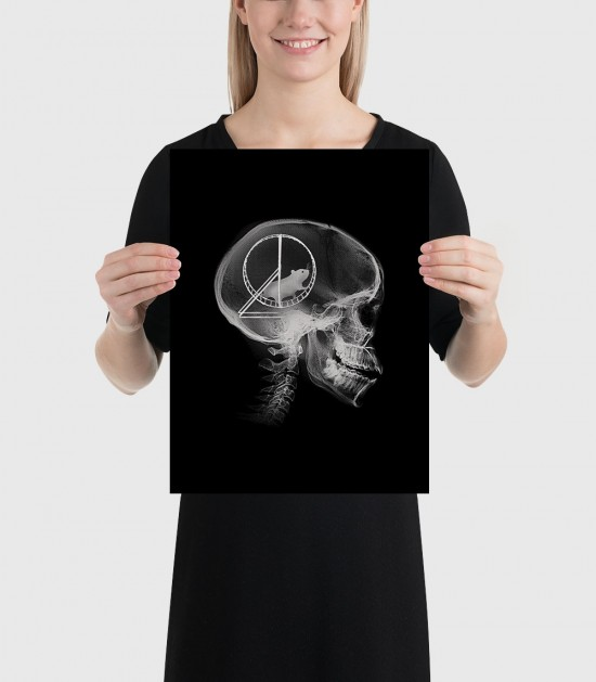 Hamster Head Scan Poster