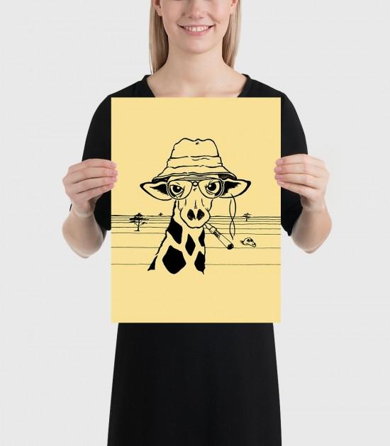 Hunter S. Giraffe Poster