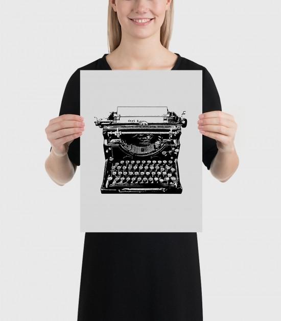 Typewriter Ctrl Z Poster
