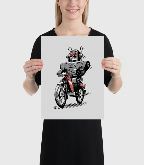 Robot Moped Poster
