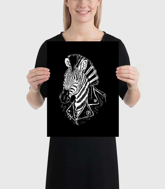 Punk Zebra Poster