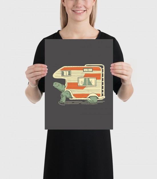 Turtle Camper Poster