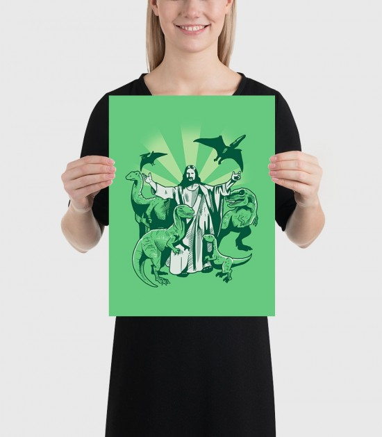 Jesus and the Dinosaurs Poster