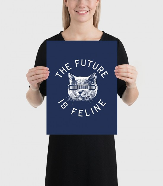 The Future Is Feline Poster