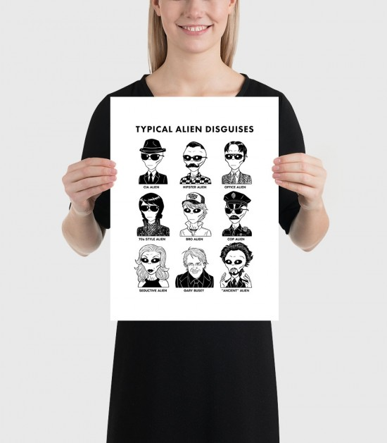 Typical Alien Disguises Poster
