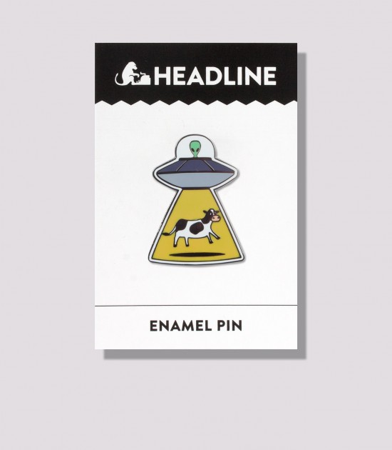 Alien & Cow Enamel Pin