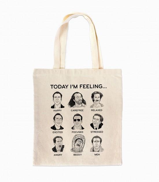 Nicolas Cage Mood Board Tote Bag