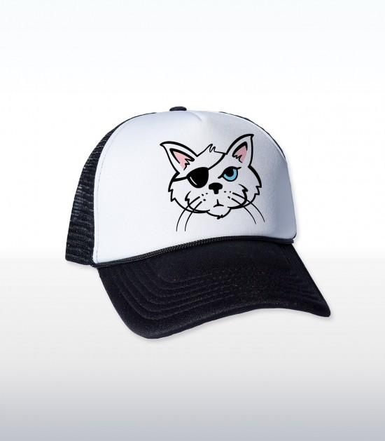 One Eyed Cat Cap