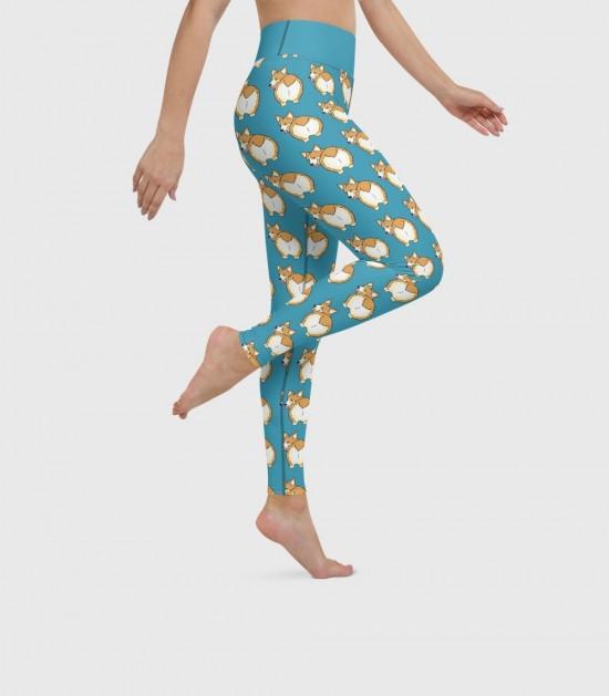 Corgi Butts Yoga Leggings