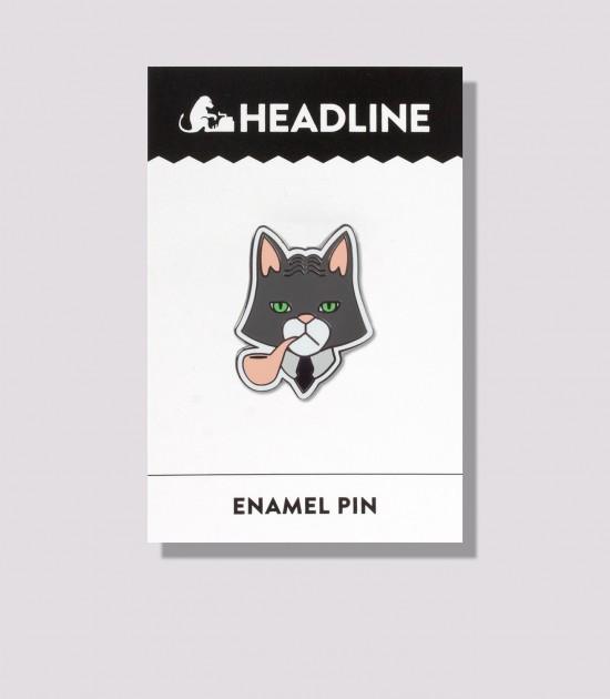 Fancy Cat Enamel Pin