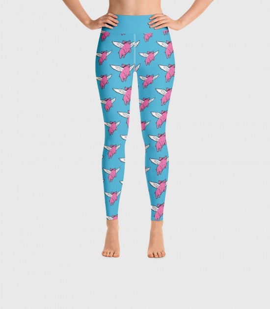 Flying Pigs Yoga Leggings (Special Order)