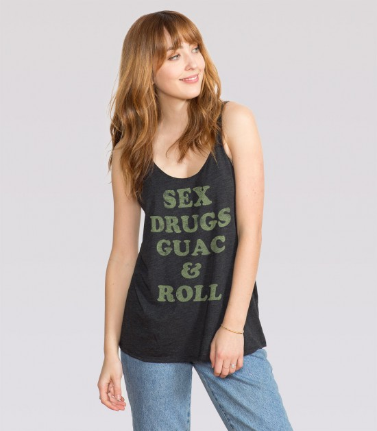 Sex, Drugs, Guac & Roll Slouchy Tank