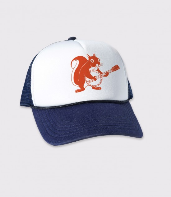 Squirrel Banjo Trucker Cap
