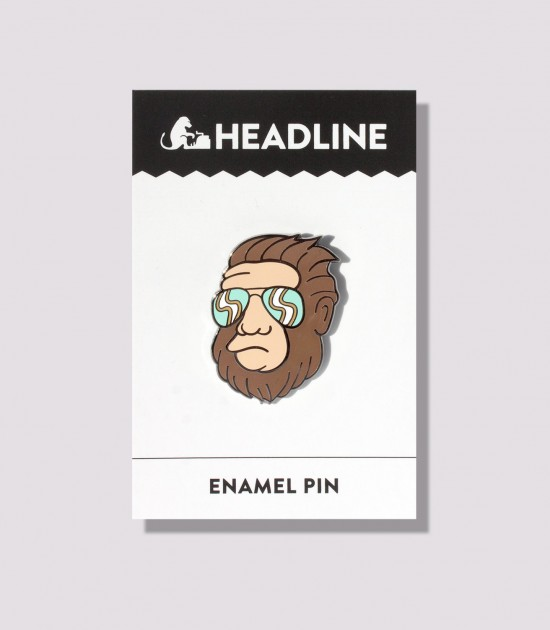 Hipster Bigfoot Enamel Pin