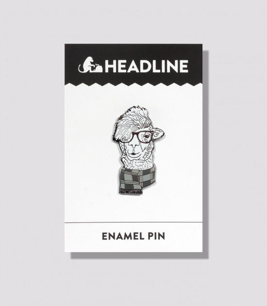 Hipster Llama Enamel Pin