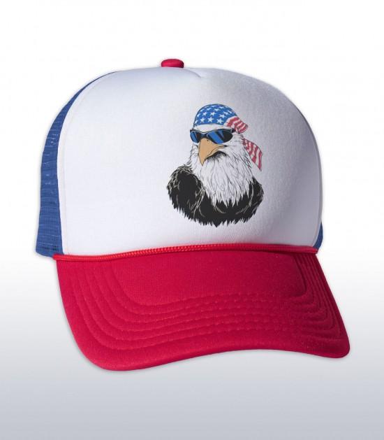 Patriotic Eagle Trucker Cap