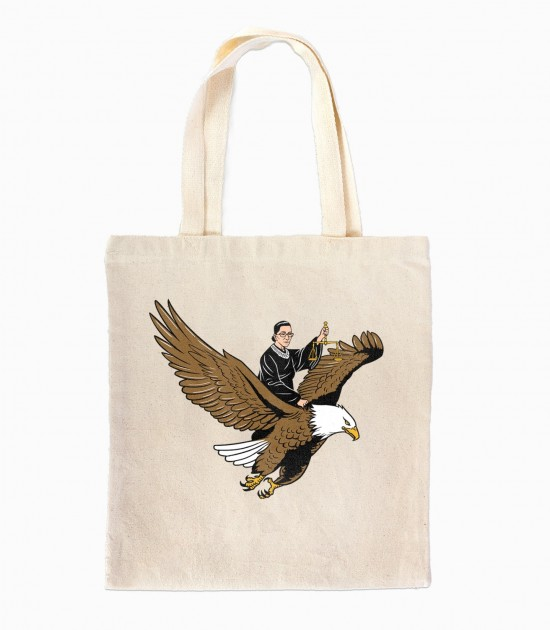 RBG Riding an Eagle Tote Bag