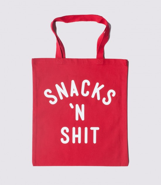 Snacks & Sh-t Tote Bag