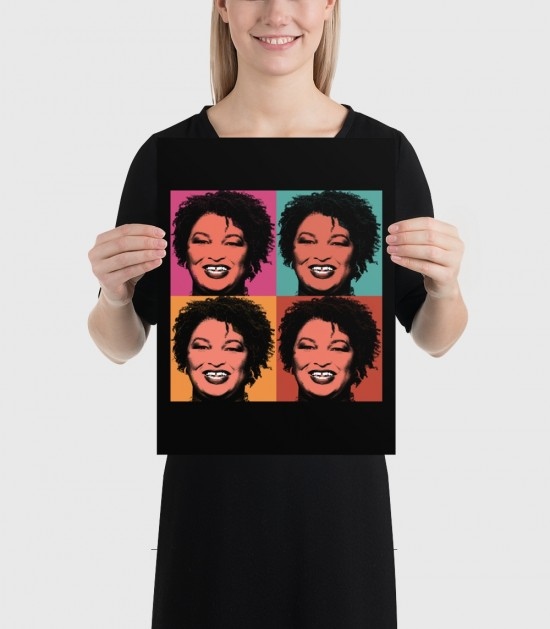 Stacey Abrams Portrait Poster