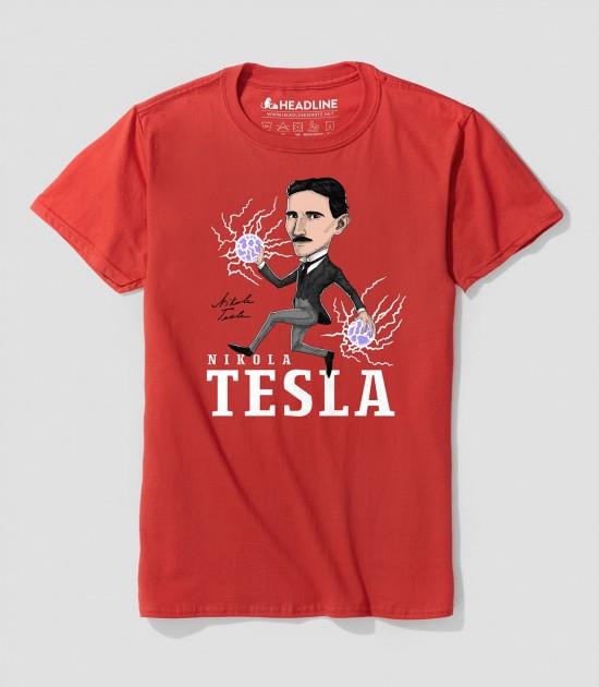 Tesla Retro Caricature