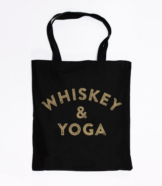 Whiskey & Yoga Tote Bag