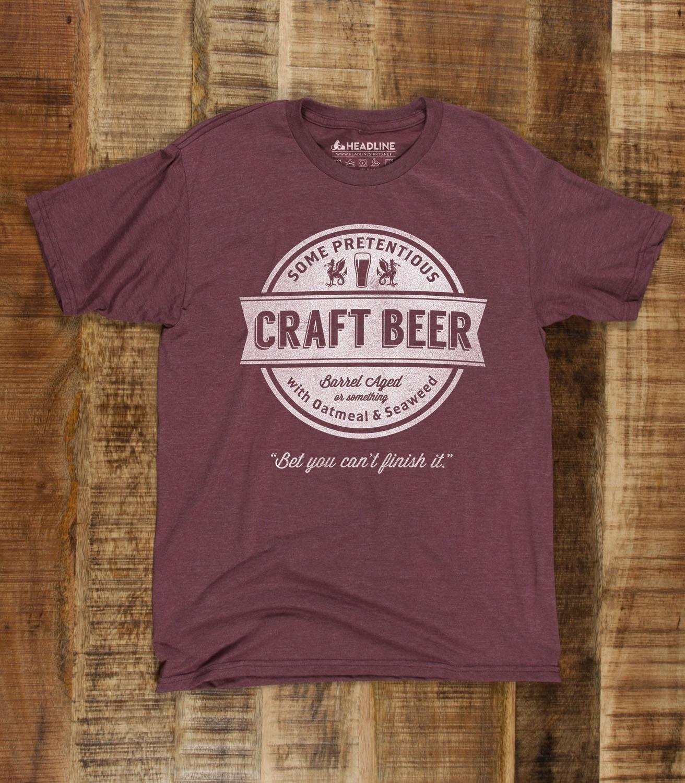 Craft beer men 39 s funny brewing t shirt headline shirts for Funny craft beer shirts