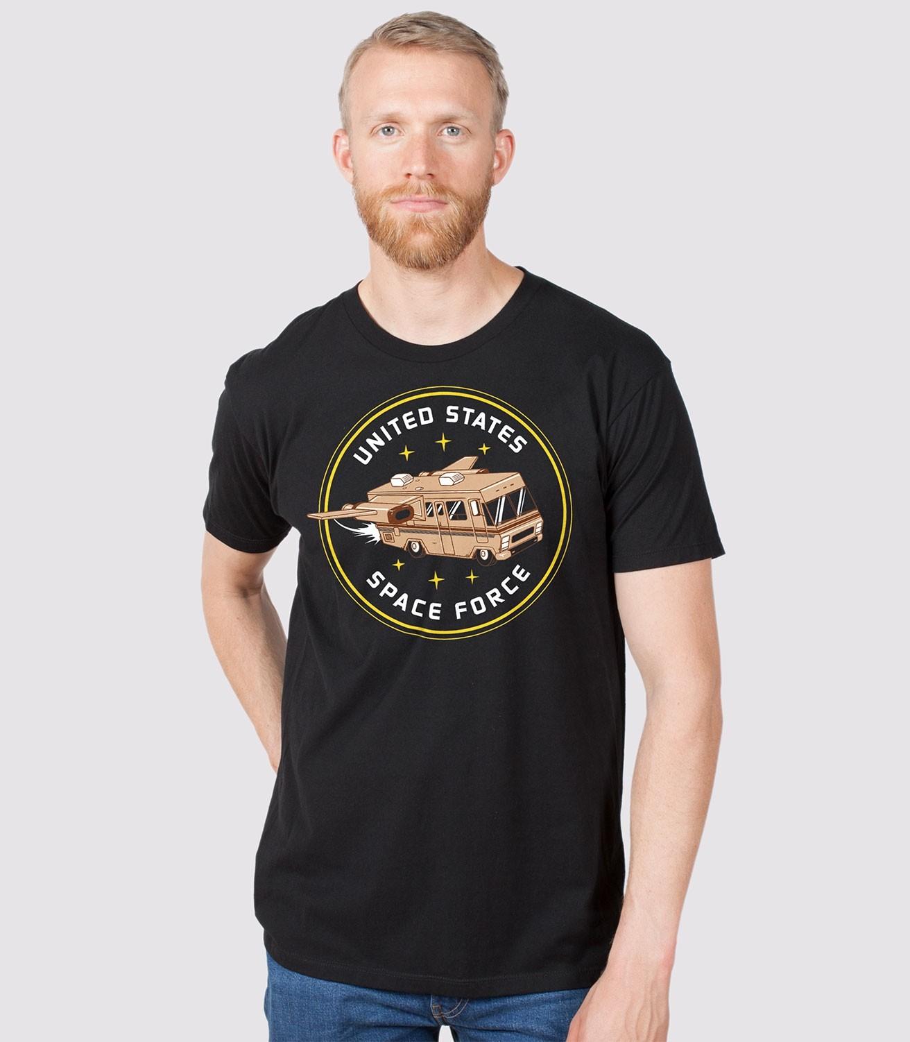 becb9adf6b Space Force Funny Men's 100% Cotton T-Shirt | Headline Shirts