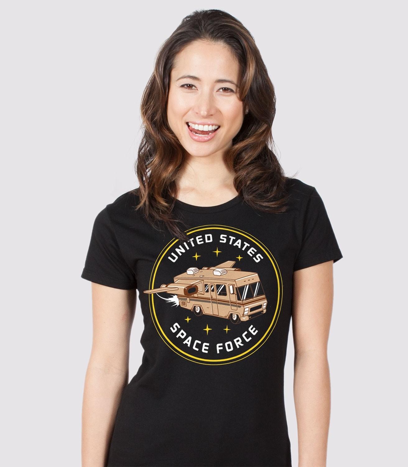 b2c2b0fcdb Space Force Funny Women's Cotton/Poly T-Shirt | Headline Shirts